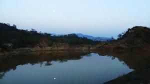 Water Harvesting Dam near Guga Marhi Temple at Kamballah,Morni foothills