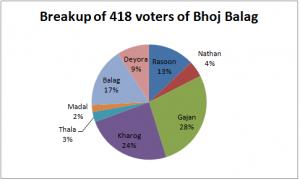 Village-wise breakup of voters of Bhoj Balag