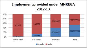 Employment provided under MNREGA (2012-13)