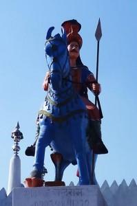 Prince Guga on his steed, Guga-Marhi Temple at Kakrali