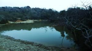 Dam near Katli on the road to Tikkar village