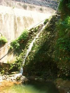 Waterfall at Masonry Dam at Bharal, Thapli panchayat