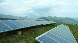 Solar panels at Kohlan, Morni