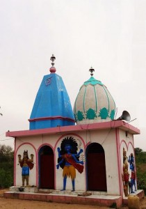Twin towers of Chandi temple at Chandi-Kotla, Pinjore-Morni