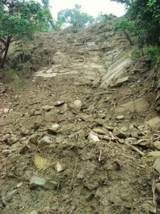 Landslide site at Gajan, Bhoj Balag, Morni hills (Sep 2010)