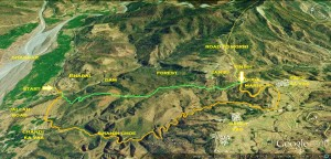 The route we followed