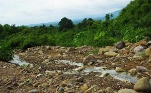 The rocky trek route