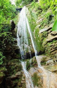 Waterfall over Thalapur cliff, Morni hills