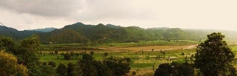 Thapli,view from across River Ghaggar