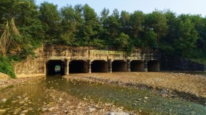Aqueduct bridge over the rivulet