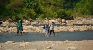 Crossing the Rewasan (Photo courtesy the Hawk eye)