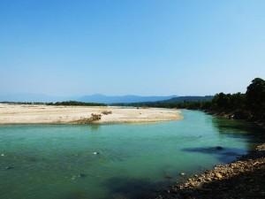 Ganga near Chilla Power House