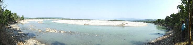 Ganga river- panoramic