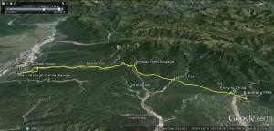 The 28 KM walk through Chilla Forest Range