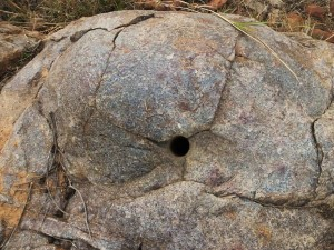 Holes drilled into rocks, Aravalis- Bhondsi-Gamroj- The Scars of Mining