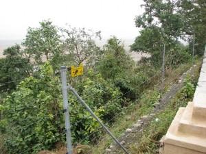 Solar-powered perimeter fence at Dhikala, Corbett Tiger Reserve