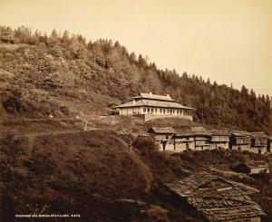 Narkunda dak bungalow & village, Samuel Bourne, 1865