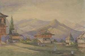 Rajah's house at Kumharsain, Baden Henry Baden Powell 1872