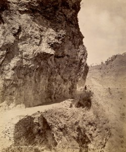 Road between Fagu and Theog, Samuel Bourne (1865)