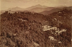 Shimla in Colonial Times- The Viceregal Lodge and Boileaugunge from Prospect Hill