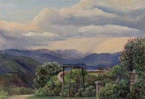 From Lady Ramsay's Garden, Binsur, Kumaon, India, Marianne North 1878