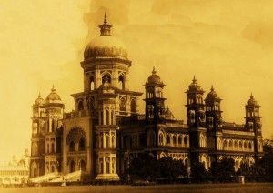 Hamid Manzil constructed under supervision of Chief Engineer W.C. Wright, in the reign of Nawab Hamid Ali Khan at Rampur (1940)