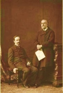 Sir John Strachey and Sir Richard Strachey, 1876 (by Elliott & Fry)