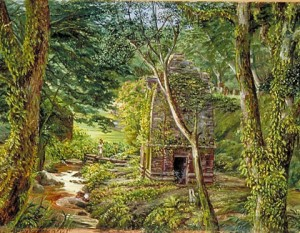 Temple in a Dell, Binsur, Kumaon, India (1878)
