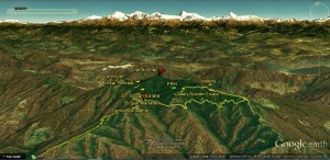 The Binsar Massif - the southern face