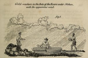 Gold-washers in the beds of the rivers under Nahun